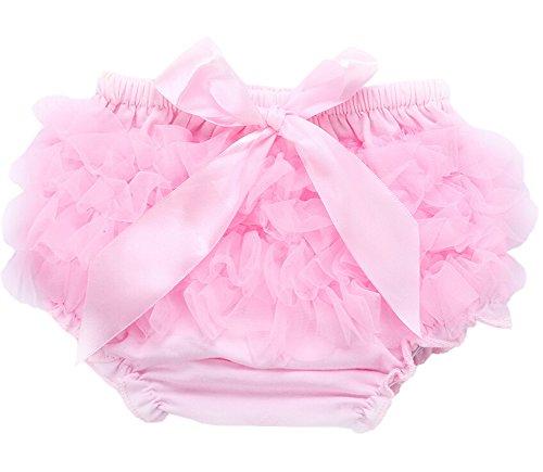 Bambino Bloomers ragazze increspatura Mutandine Bloomers del pannolino del bambino coperture biancheria intima pannolino, brillante rosa