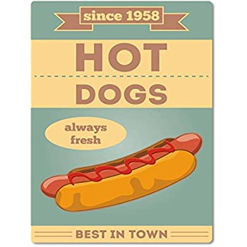 """Retro / Nostalgie Blechschild """"Hot Dog"""" - Schild aus"""