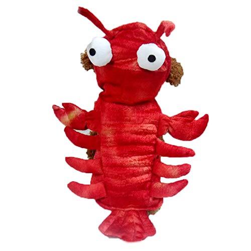 XGPT Katzen Hund Kostüm Jumpsuit Hundebekleidung Cartoon Red Lobster Dacron Kostüm Für Haustiere Männer Frauen Niedlichen Urlaub Cosplay Halloween,20#