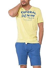 Kaporal Proki - T-shirt - Imprimé - Col V - Manches courtes - Homme