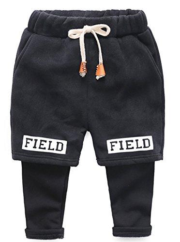 KINDER365 - Pantalones chándal niños Forro Polar