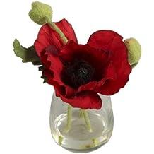 BELLAFIORA 20AMAZ041501 - Flor artificial, amapola, color rojo