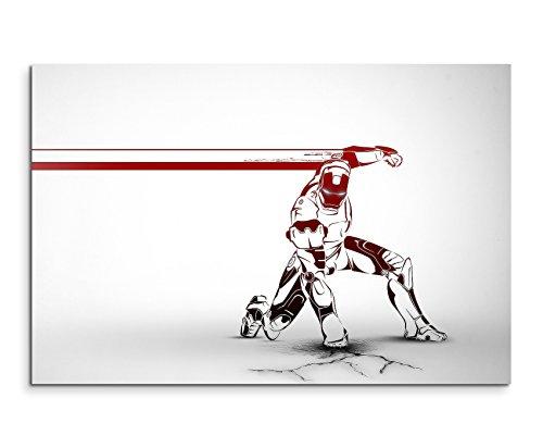 Iron Man Artwok Wandbild 120x80cm XXL Bilder und Kunstdrucke auf Leinwand