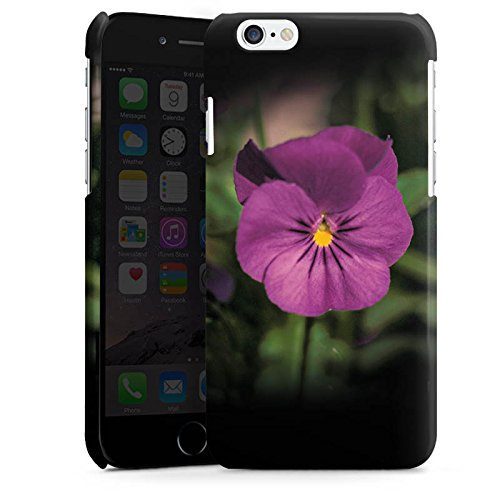 Apple iPhone 5s Housse Étui Protection Coque Pensées Fleur Fleur Cas Premium brillant