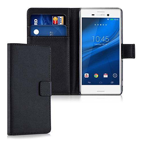 kwmobile Sony Xperia M4 Aqua Hülle - Kunstleder Wallet Case für Sony Xperia M4 Aqua mit Kartenfächern und Stand
