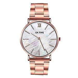 Cramberdy Herren Uhren Damen Uhr Mode Luxus Unisex Damenuhren Herrenuhren Edelstahl Analog Quarz Armbanduhren für Männer Frauen