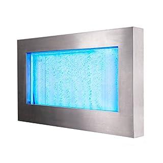 Sprudelnder Wandbrunnen mit bunter LED-Beleuchtung, Querformat