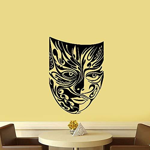 Wandtattoo Wohnzimmer Masken-Maskerade-Theater-Kunst-Muster (Kaufen Zu Masken Maskerade)