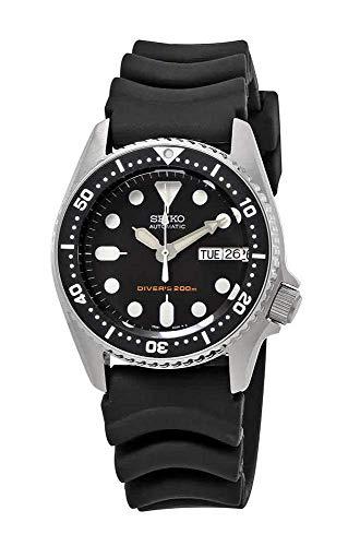Seiko Herren Analog Automatik Uhr mit Gummi Armband SKX013K1 - Automatik-uhr Seiko Bänder