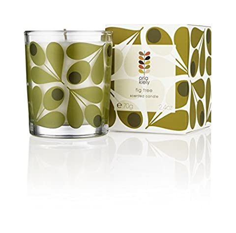 Orla Kiely Miniature Travel Fig Tree Scented Candle, Green, 70