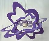 Lampadario in plexiglass a Sospensione Fiore - Vari Colori a Scelta - Camera - Cameretta - Cucina - Sala - Made in Italy - E27 (GLICINE)