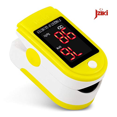 ZRK Health Oximeter Medical Nail Oximeter LED Oximeter Accurate Measurate Instrument One-Button Operation ist einfach und einfach zu bedienen,Yellow
