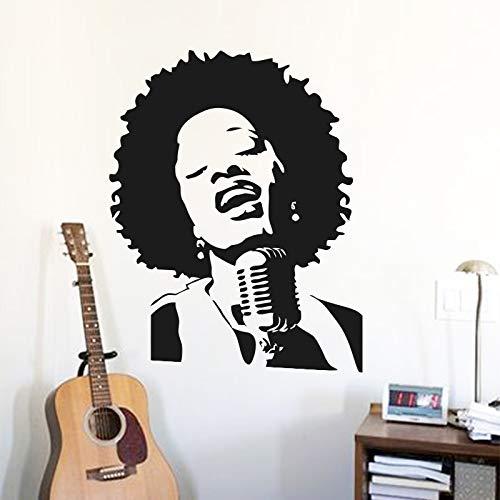yiyiyaya Arte a Buon Mercato Vinile Decorazione della casa Punk Rock cantante Wall Sticker Rimovibile Decorazioni per la casa Famosa Stella della Musica decalcom