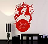 stickers muraux pissenlit Design Room Salon de beauté Logo Femme Coiffeur Autocollants