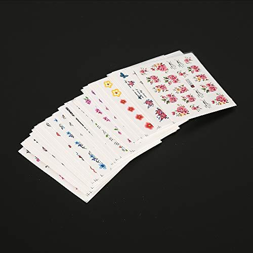 50 láminas transferencia agua decoración uñas