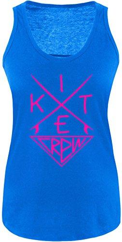 EZYshirt® Kitesurf Crew Damen Tanktop Royal/Pink