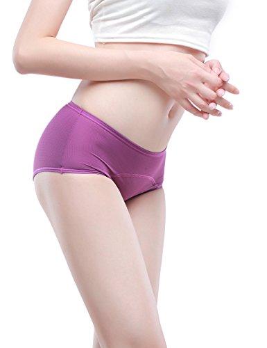 Frauen Mesh Löcher Atmungsaktiv auslaufsicher Zeitraum Höschen Multi Pack:36-50 Blau,Schwarz,Grau,Lila,Wassermelone