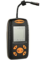 Docooler Détecteur de Poissons 100M Portable Profondeur Transducteur d'Alarme de Sondeur de Pêche Electronique Refroidisseur Attaquer l'Equipement