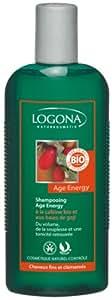 Logona - 1003shaener - Soin et Beauté du Cheveu - Shampooing Age Energy à la Caféine Bio et aux Baies de Goji