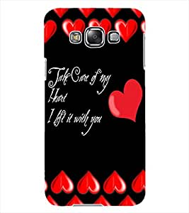 ColourCraft Love Quote Design Back Case Cover for SAMSUNG GALAXY GRAND 3