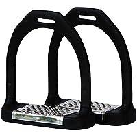 AMKA estribos flexible con base de acero, con articulaciones movibles, ligero, extra ancho Meet Encorvado