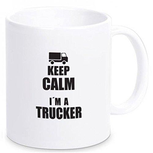 Geschenkartikel Tasse Keep Calm I`m a Trucker Kaffeetasse Becher Deko YD 3-001-428