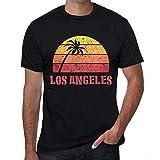 Photo de Homme T Shirt Graphique Imprimé Vintage Tee Los Angeles Sunset Noir Profond par One in the City