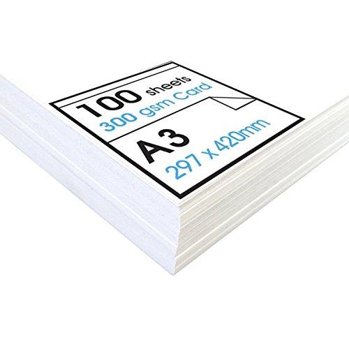 Artway studio - carta bianca spessa - ideale da incorniciare per esposizioni - 300g/m² - a3 (100 fogli)