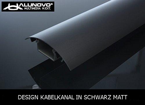 TV Design Aluminium Kabelkanal in schwarz seidenmatt lackiert in verschiedenen Längen von ALUNOVO (Länge: 90cm)
