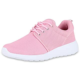 best-boots Unisex Damen Laufschuhe Fitness Sneaker Sport Turnschuhe Damen Sportschuhe Rosa Weiss Nuovo 39