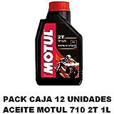 PACK MOTUL 710 2T 1L CAJA 12 UNIDADES