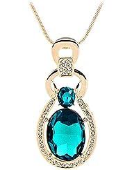diannaohigh–grado Jersey de cristal cadena colgante joyas de adornos de Navidad, color blue