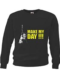 "Sweatshirt Sweater "" Dirty Harry Make My Day Eastwood Kino Kult Dvd Motiv Nr. 3069"