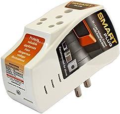 Smart Plug 16Amp High Low Voltage Cutout Surge Protector (White, 16A01)