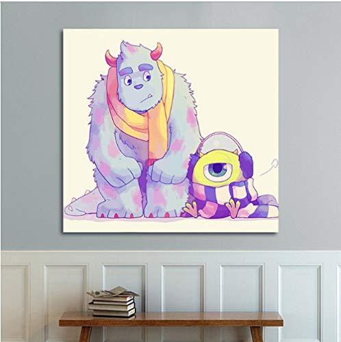 asd137588 DIY Cartoon Monsters Inc Wandposter Digitale Farbe Nach Zahlen Monsters University Home Dekoration Für Kinder (Inc Mädchen Monster Aus)