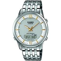 Casio Reloj Analógico/Digital de Cuarzo para Hombre con Correa de Acero Inoxidable – LCW-M180D-7AER