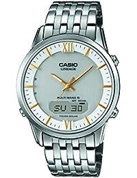 Casio Herren-Armbanduhr Wave Ceptor Analog Digital Quarz Edelstahl LCW-M180D-7AER