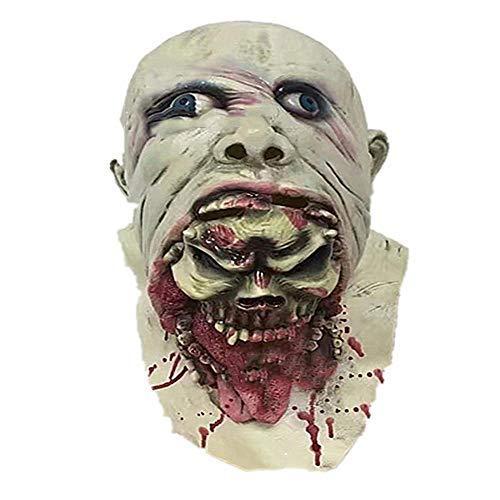 Circlefly Halloween Horror Maske ekelhaft Rot blutigen zombiemaske Ostern Maskerade beängstigend Perücke
