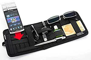 UNIQUE ICON Car Accessories Car Vehicle Sun Visor Vehicle Sun Visor Storage Plate Organizer Cosmetic Ticket Holder Clip Bag