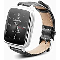 OUKITEL A28 Aleación de Aluminio + Cuero 240 * 240 Bluetooth Smart Watch Monitor de Ritmo