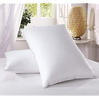 Luxury Duck Feather Pillows 2 Pack Large Amp Comfortable