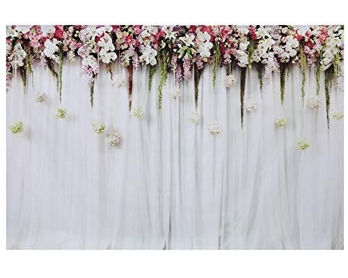 Fotografie Hintergrund, Azurex 3x2m /9.8x6.6ft Blumewand Fotografie Hintergrund Fotohintergrund für Hochzeit Foto Video Studio ... (Type...
