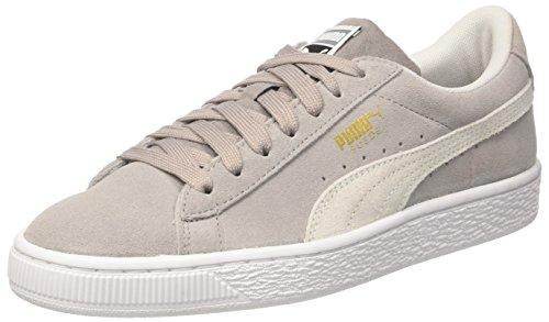 Puma Unisex-Kinder Suede Classic Jr Sneaker, Grau (Ash White), 37 EU