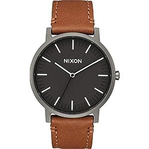 Nixon Herren Analog Quarz Uhr mit Leder Armband A10582494-00