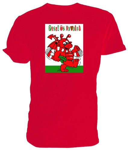 Toddler Dragone Gallese T Shirt, orgogliosi di essere Gallese rosso