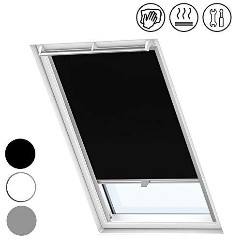 Froadp S08/608 Verdunkelungs Rollos Sonnenschutz Thermorollos Hitzeschutz Velux Jalousien für Dachfenster Fensterdekoration Springrollos(97,3×116cm)