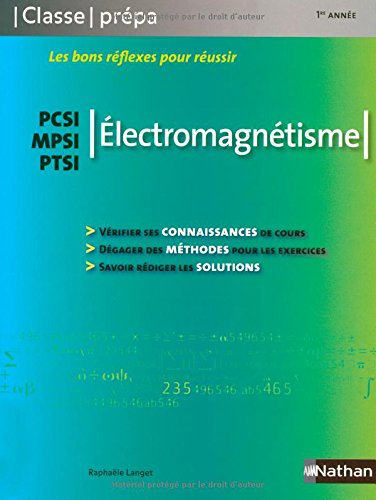 Electromagnétisme PCSI / MPSI / PTSI - 1ère année