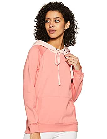 Amazon Brand - Symbol Women's Cotton Sweatshirt (AW18WNSSW21_Candle Pink_X-Small)