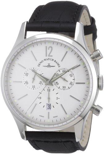 Zeno Watch Basel Herren-Armbanduhr XL Quarz Analog Leder 6564-5030Q-i2