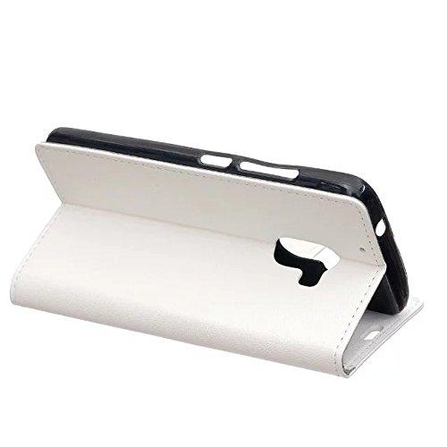 Solid Color Kas Textur Muster Leder Schutzhülle Case Horizontal Flip Stand Hülle mit Kartensteckplätzen für Lenovo X3 Lite A7010 ( Color : Pink , Size : Lenovo X3 Lite A7010 ) White